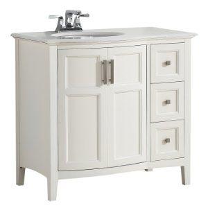 "Amazon.com: Winston 36"" Bath Vanity Rounded Front with Quartz Marble Top: Home Improvement"