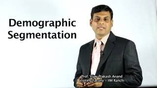 15. Demographic Segmentation  OER Marketing Video Lecture by Prof. Vijay Prakash Anand