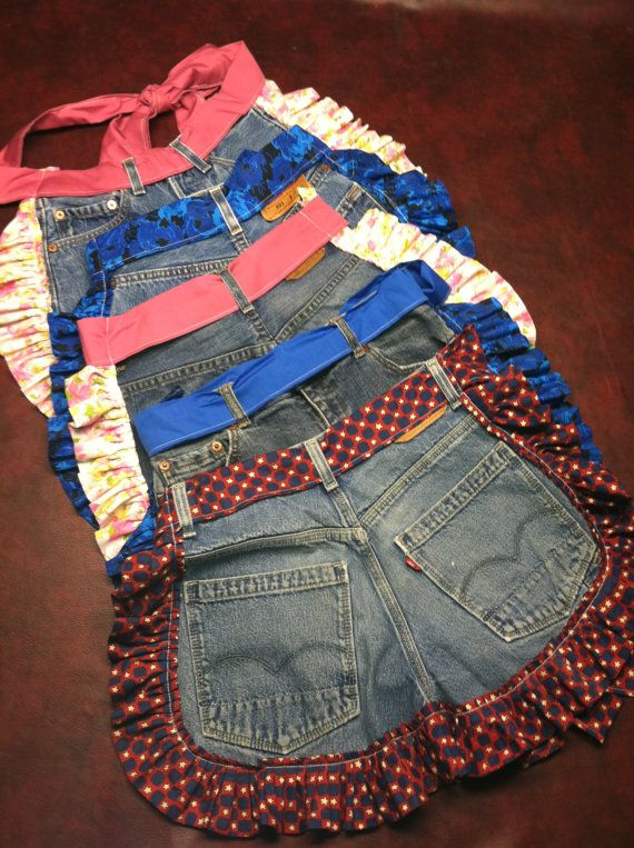 jean aprons. Natalie Cramer: I saw these and instantly thought of you. they are fun aprons