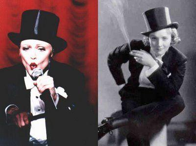 Marlene Dietrich - madonna copy