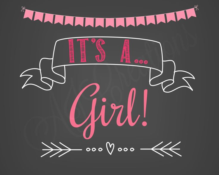 It's A Girl Printable Sign - It's a Boy Chalkboard Poster - Pregnancy Sign - Baby Girl Announcement - Baby Boy Announcement - Photo Prop by AJCreations12 on Etsy