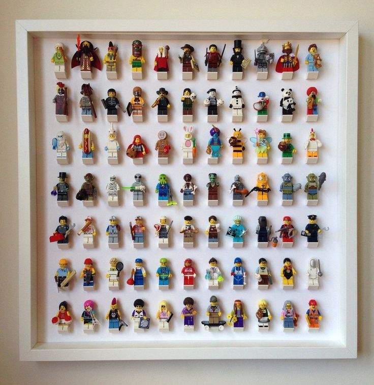 Lego Minifiguras, Cuadro grande expositor para lego, guarda 77 Minifigures de LegoMinifiguresFrame en http://www.ebay.com/itm/Lego-Frame-Large-WHITE-Display-Case-for-Lego-Minifigures-Holds-77-Minifigs-/172056423161