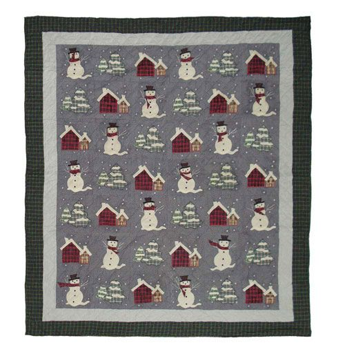 Snowman Quilt King 105 X 95 Quilt Quilts & Bedspreads Bedding