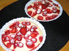 Quarkgratin mit Erdbeeren