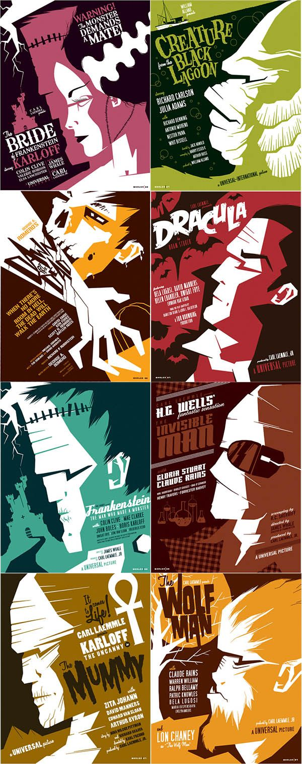 Universal Monster Movie Posters by Tom Whalen -Watch Free Latest Movies Online on Moive365.to