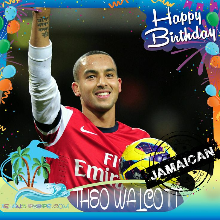 Happy Birthday to Theo Walcott!!! The premier league forward for the English National team & the Arsenal Club was born of Jamaican descent!!! Today we celebrate you!!! @TheoWalcott #TheoWalcott #islandpeeps #islandpeepsbirthdays #soccer #arsenal #stanmore #london #jamaica