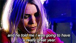"I Never noticed this!! In the last episode of the first series Rose tells the Doctor that she met a man last New Years and he told her she was gonna ""Have a really great year"" which as we know it what ten said to her as he was dying! *sobs*"