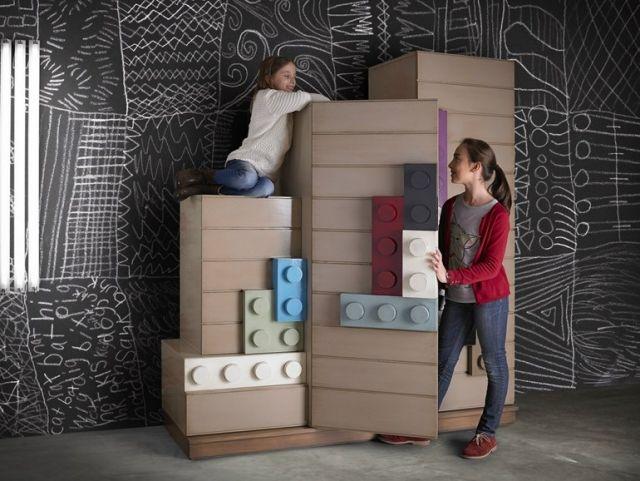 Holz Kleiderschrank Kinderzimmer LEGOS Wardrobe Lola Glamour