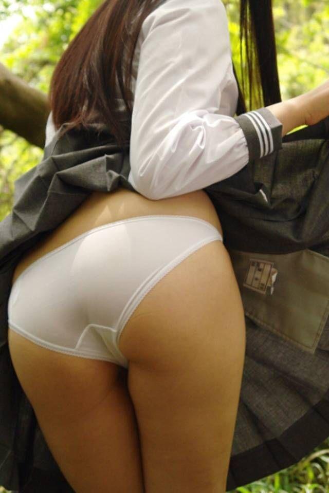 Naked girls taking off panties