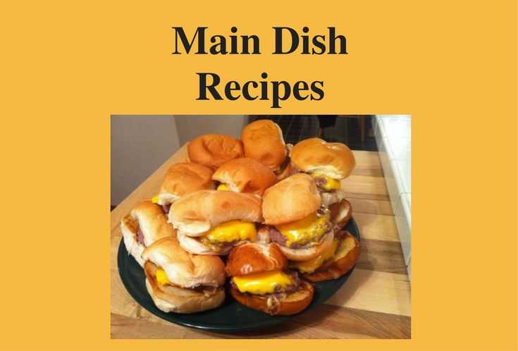 Main Dish Recipes. Are you craving comfort food right now? Find recipes for homemade meatloaf, garlic mashed potatoes, shepherds pie, mini hamburger sliders, and more. Satisfy your comfort food cravings with these hearty and satisfying main dish recipes from VintageCooking.com. http://www.vintagecooking.com/category/recipes/main-dish-recipes/