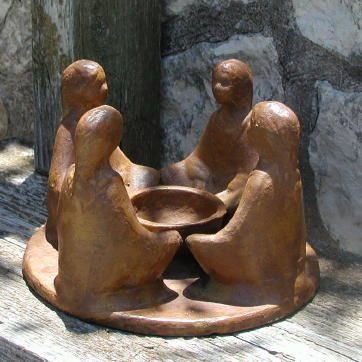 Mexican Clay Pottery Circle of Women / Friends