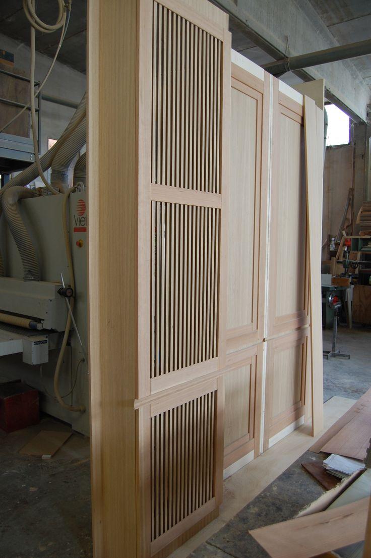 Oak wood boiserie with radiator cover s