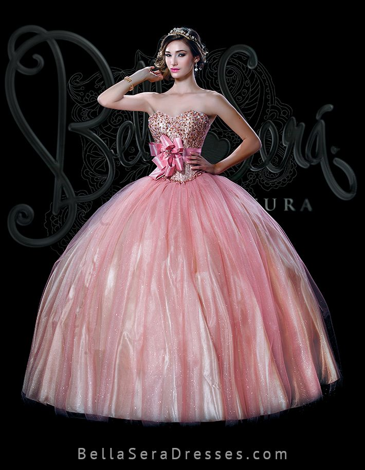 15 best vestidos de xv rosa images on Pinterest | Ball dresses ...
