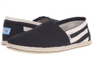 TOMS University Classics (Black Stripe) Men's Shoes