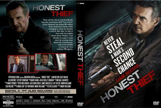Honest Thief 2020 Dvd Custom Cover In 2020 Dvd Cover Design Custom Dvd Dvd Covers