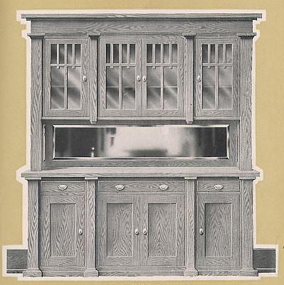 Craftsman style built-in; Universal millwork 1920.