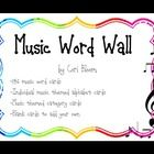 This is a word wall ready to be printed for your music classroom.  It is  perfect for grades K-8 or even higher!  The set includes:  *146 music wor...