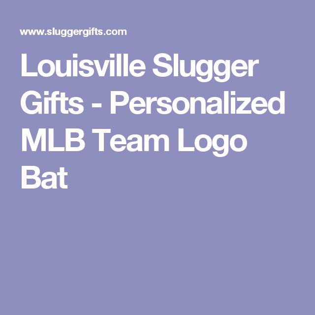 Louisville Slugger Gifts - Personalized MLB Team Logo Bat