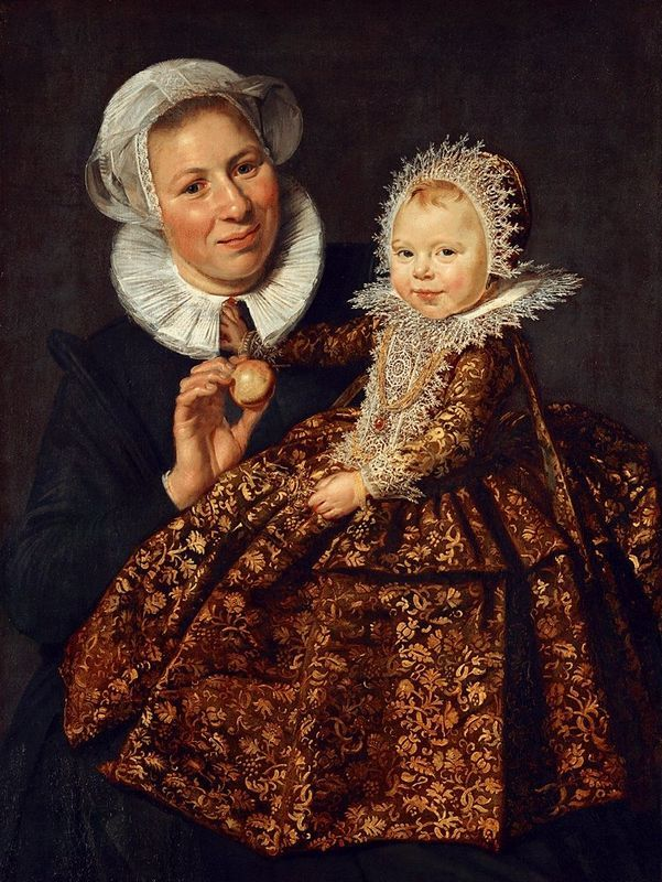 Frans Hals ~   Catharina Hooft with her Nurse  1620 So lifelike. This is not just a portrait but a work of art as well