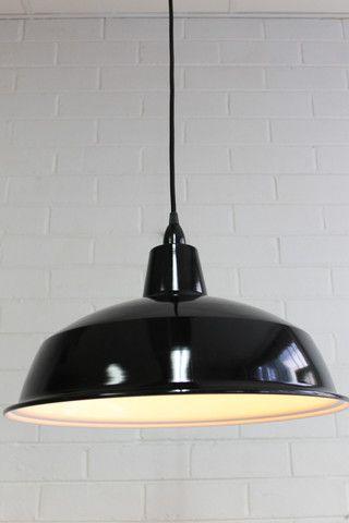 Warehouse Ceiling Pendant Light - Large Fat Shack Vintage $125