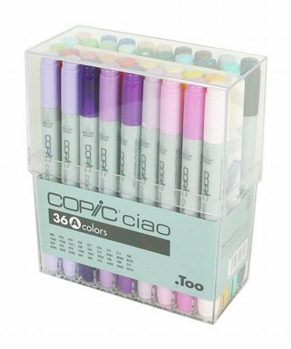 Too. Copic Marker Set - Ciao 36 Colors Pen Set A - Japan Drawing Markers, Anime, Animation, Manga Art Supplies - Non-Toxic, Entry Model - JapanLovelyCrafts