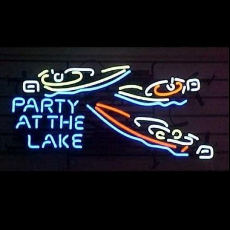 Neon Bar Sign - Party at the Lake