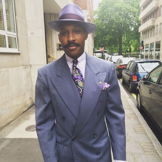 Instead, the most stylish street style shot goes to Shaun Gordon. Part of the two man Turnbull and Asser creative team, Shaun Gordon takes the award for not only the biggest lapel but also most stylish street style picture - Shaun Gordon we salute you.