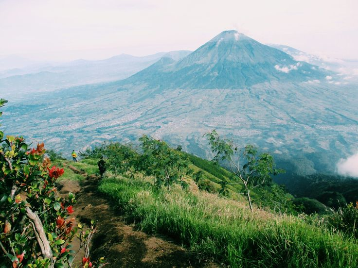 Traveling again. Sindoro mounth from sumbing mounth