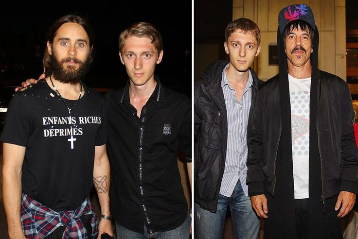 Вокалисты групп Thirty Seconds to Mars Джаред Лето (слева) и Red Hot Chili Peppers Энтони Кидис (справа)