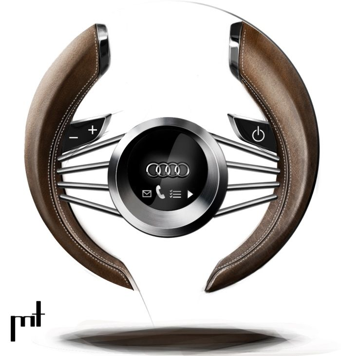 Beautiful Audi project concept steering wheel