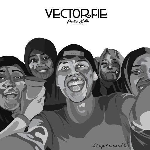 Selfie groufie dengan vectorfie