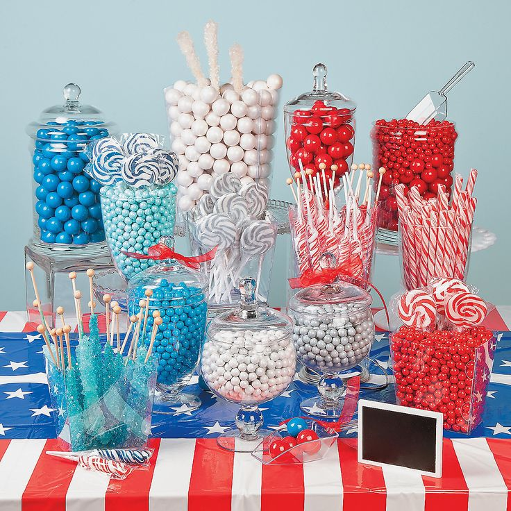 Patriotic Candy Buffet - OrientalTrading.com