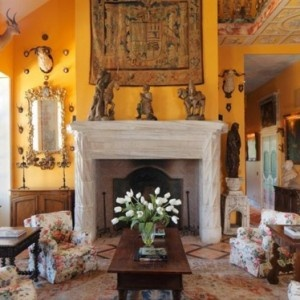Living Room in Tuscan Style