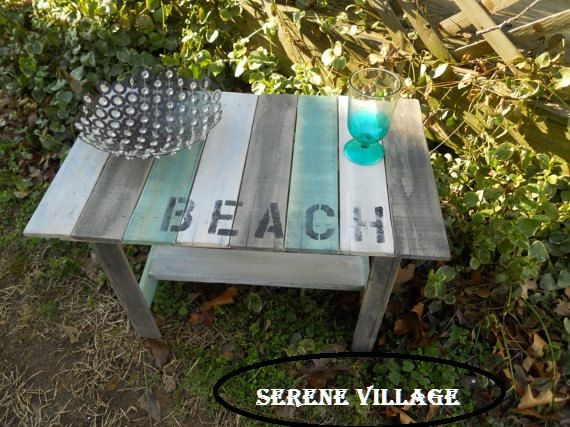 End Table Wood Weathered Table Serene Village by SereneVillage https://www.etsy.com/listing/196534000/two-reclaimed-wood-end-tables-serene?ref=sr_gallery_6&ga_search_query=PALLET++SOFA&ga_search_type=all&ga_view_type=gallery