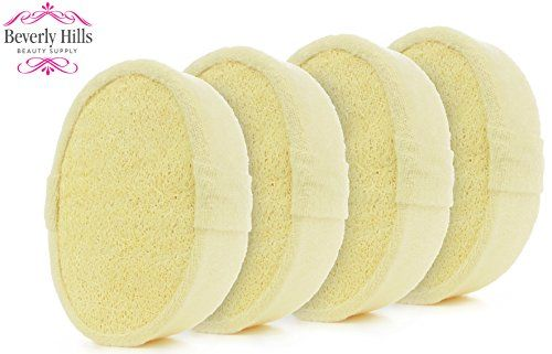 Loofah Body Scrubber Sponge - 4 Pack - Ultra Thick Exfoliating Glove for Men or Women - Softens, Smooths and Renews from Head to Toe in the Shower or Bath  //Price: $ & FREE Shipping //     #hair #curles #style #haircare #shampoo #makeup #elixir