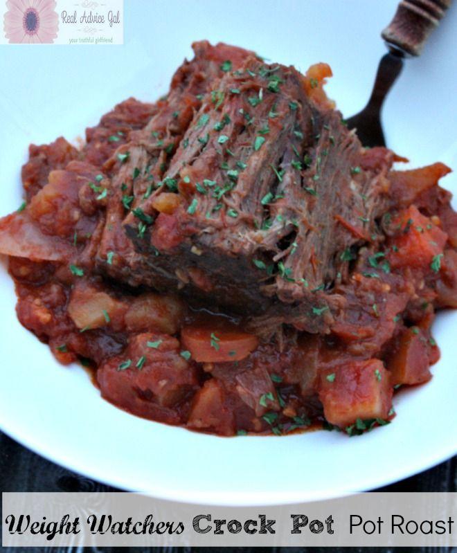 Weight Watchers CrockPot Pot Roast recipe is healthy but full of flavor!