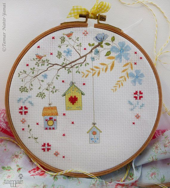 Embroidery kit Embellished Cross Stitch por TamarNahirYanai en Etsy