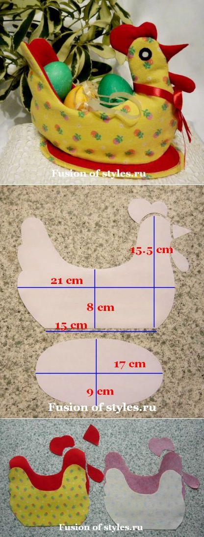 Пасхальная курочка - корзинка для яиц из ткани | Всё о моде, стиле, шитье и рукоделии СЛИЯНИЕ СТИЛЕЙ