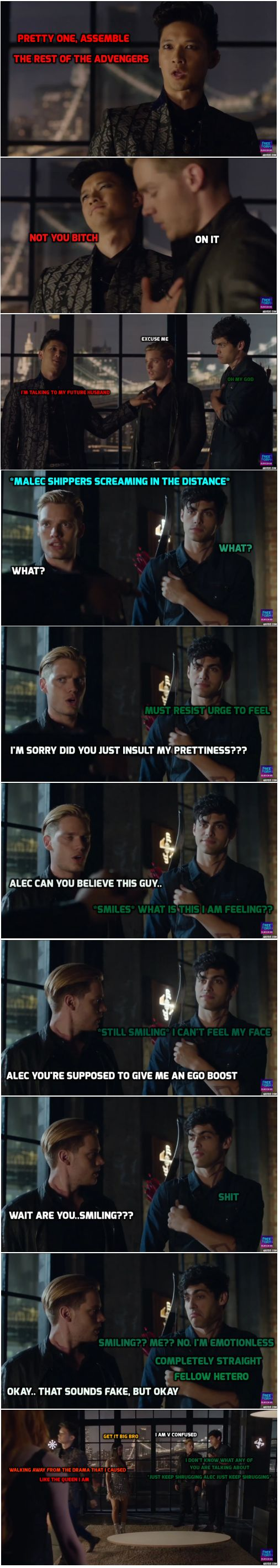 Made by halliwellxx ... the mortal instruments, isabelle lightwood, clarissa 'clary' fray, jace herondale, alexander 'alec' lightwood, magnus bane
