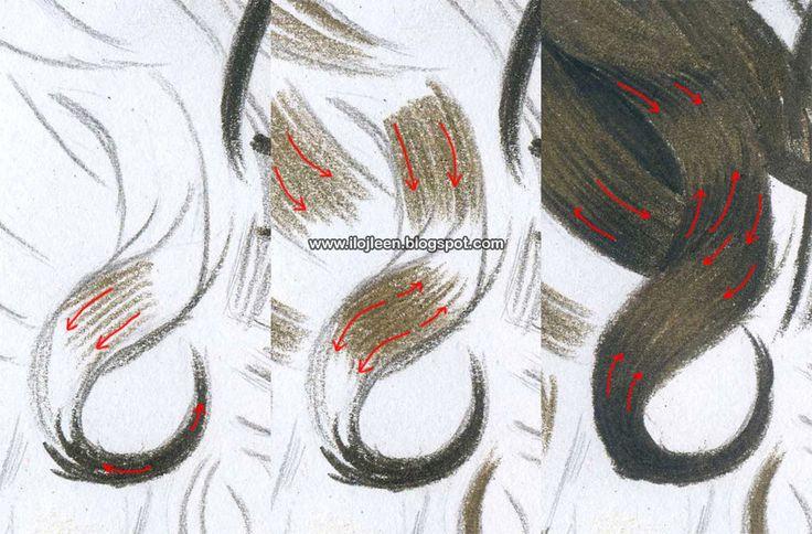 Wskazówki dla rysujących portrety i nie tylko | Ilojleen: Jak rysować kredkami kręcone włosy