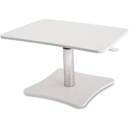 Victor High Rise Adjustable Laptop Stand, 21 x 13 x 15 3/4, White/Chrome, Multicolor