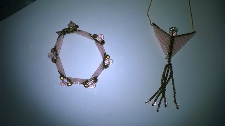 Peyote bracelet and angel necklace to my bride  Beste