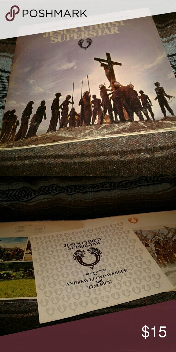 Jesus christ superstar double lp pressing vintage All original and authentic andrew llyod webber classic rock opera Accessories