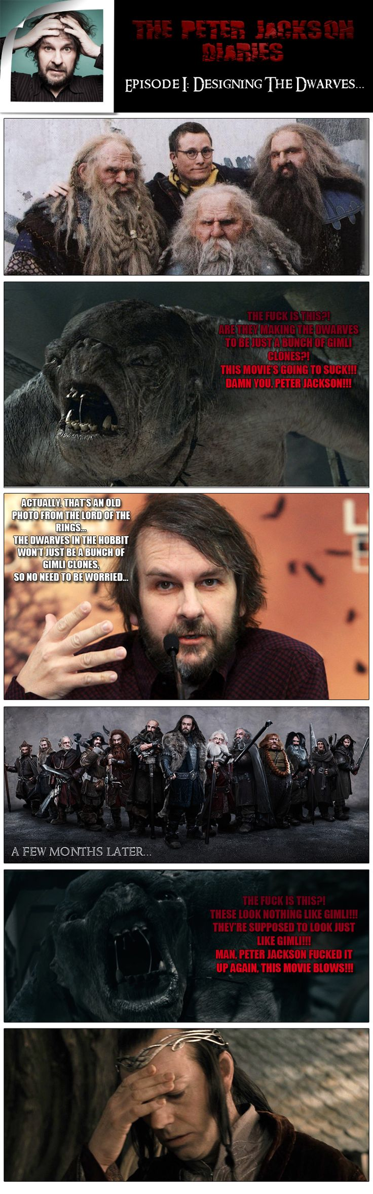 please excuse the language. I feel so bad for Peter Jackson. He gets way too much crap and criticism that he dosn't need. honestly, leave the man alone he knows what hes doing.