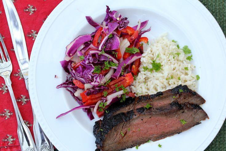 Korean Style Barbecued Flank Steak | Devour it | Pinterest