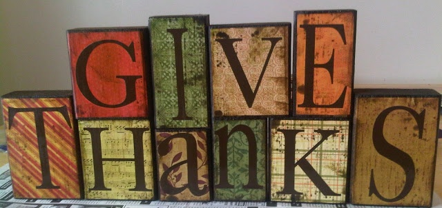 Give Thanks primitive blocks by Mommy Misfit