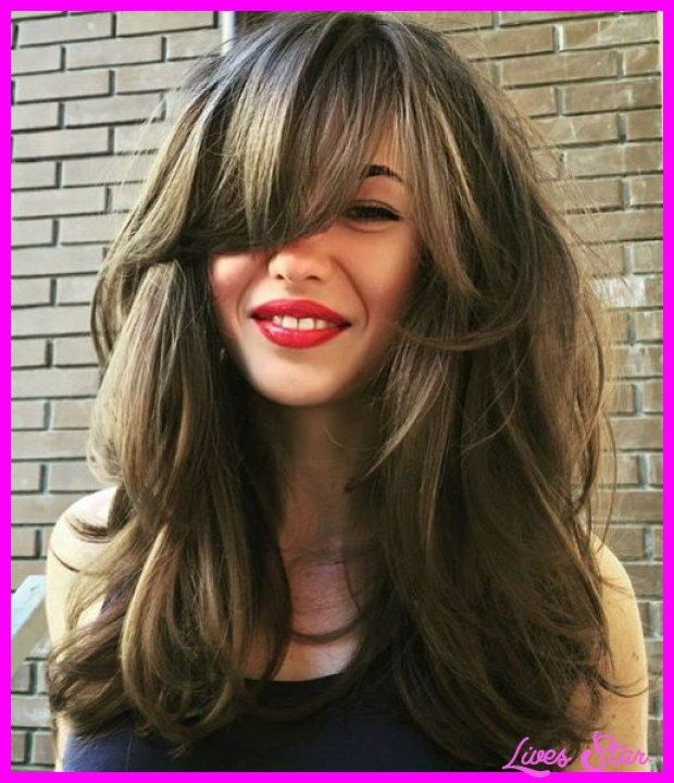 awesome Long layered haircuts with side bangs