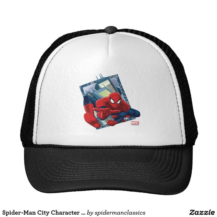 Spider-Man City Character Graphic. Producto disponible en tienda Zazzle. Accesorios, moda. Product available in Zazzle store. Fashion Accessories. Regalos, Gifts. #gorra #hat