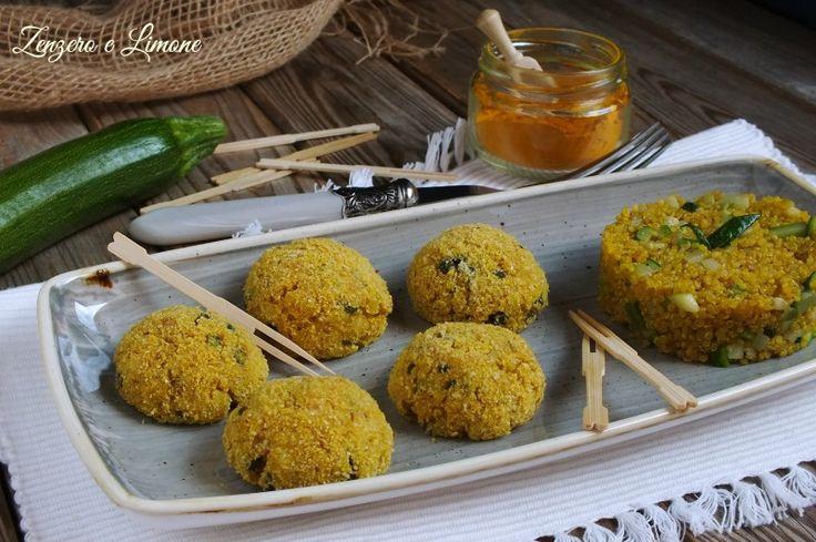 Polpette+di+quinoa+alle+zucchine