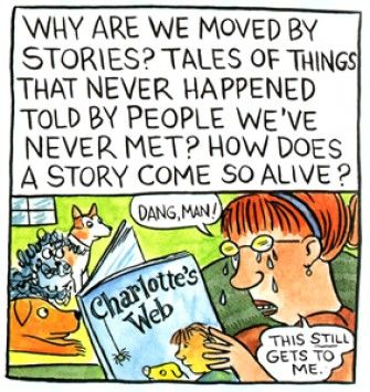 Lynda Barry on story. Dang, man!